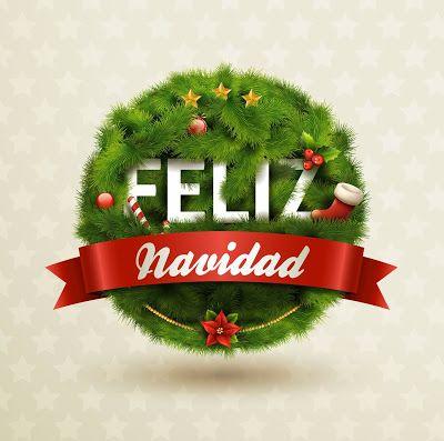 Banco de Imágenes Gratis: Feliz Navidad en cuatro idiomas diferentes; Español, Francés, Alemán y Portugués para compartir con tus amigos del extranjero.