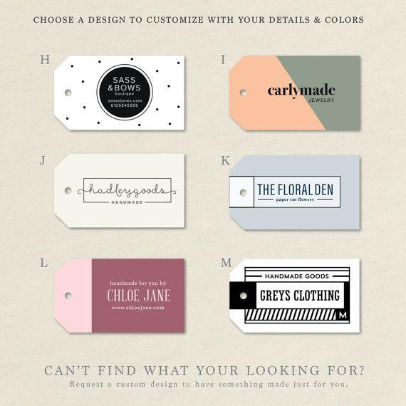 Clothing Tags, Handmade Tag, Product Tags, logo hang tags, custom tag…