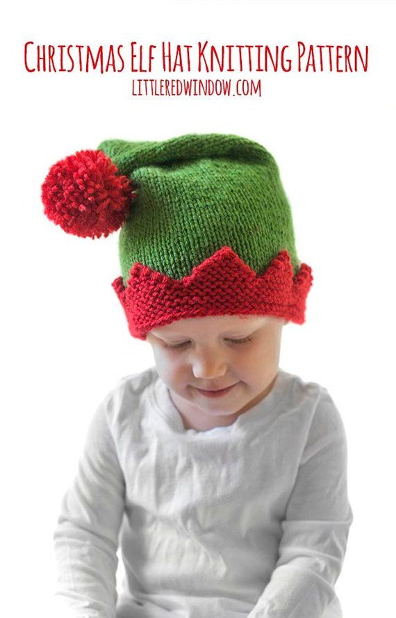 70fe7f3c4 Save 20%! 5 More Christmas Hat KNITTING PATTERNS  Christmas Hat Baby ...