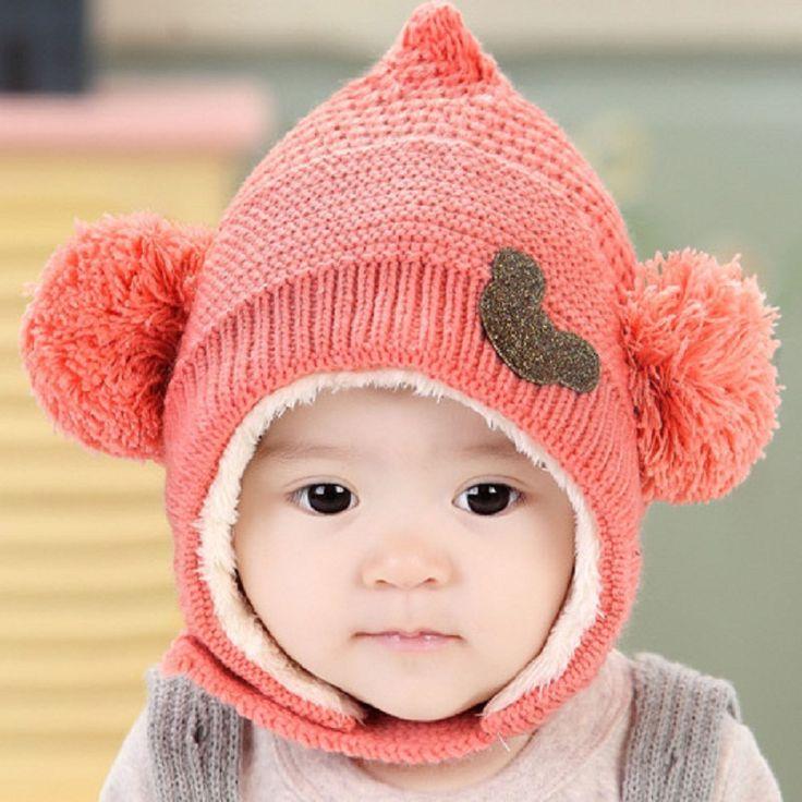 Winter-Hooded-Scarf-Earflap-Knit-Cap-Knitting-Baby-Hats-Winter-Girl-Boy-Caps-Lovely-Kids-Woolen.jpg (800×800)