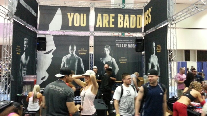 #badass booth at #thefitexpo - best booth in history of the show. Huge display, knowledgeable staff, great prices and super loud #housemusic. #fitness #bodybuilding #supplements #nutrition