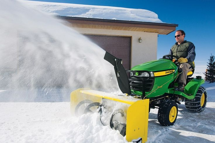 John Deere has introduced two new snow blower attachments for its X300 and X500 Select Series lawn tractors, in time for this year's winter ...