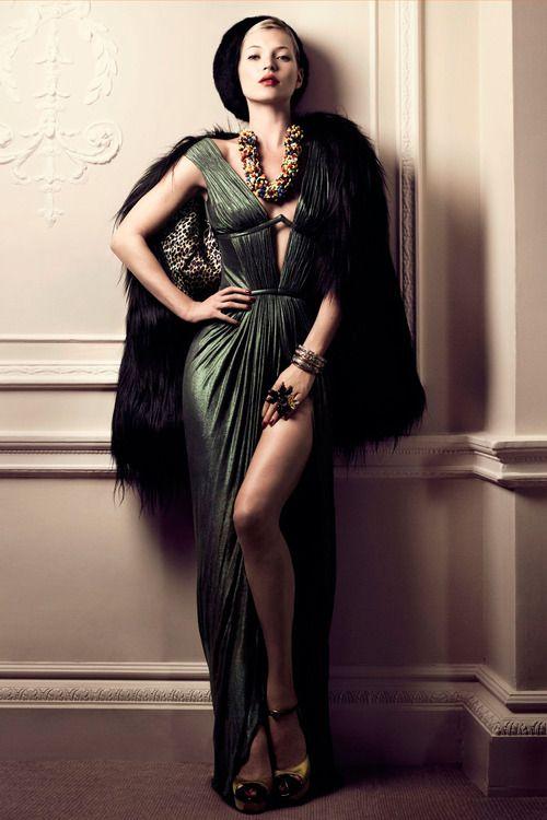Kate Moss - December 2007. Modern retro