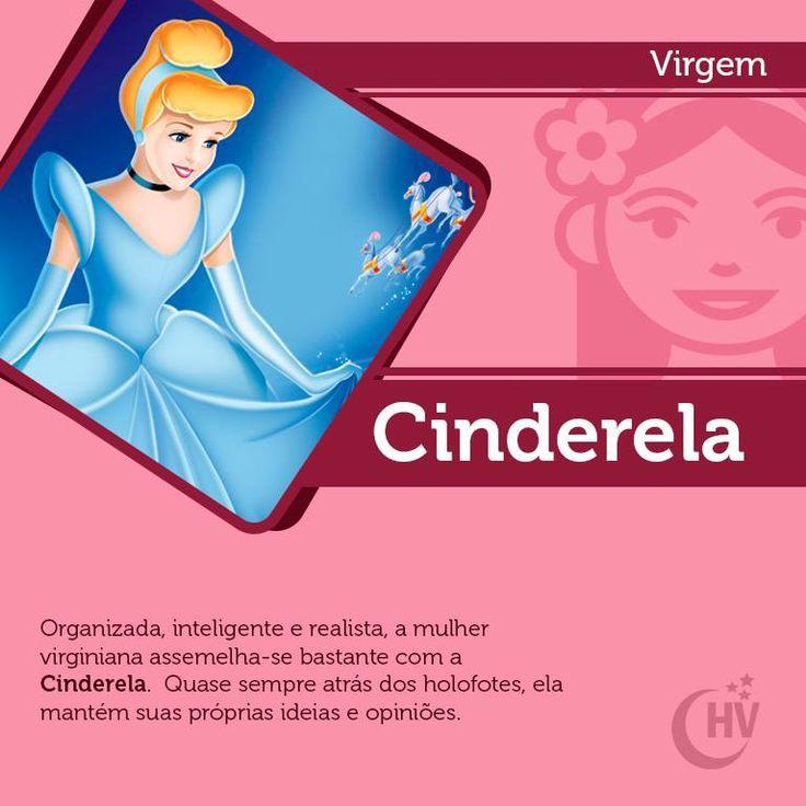 Princesa de Virgem. #horóscopovirtual #princesas #signos #Cinderela #virgem