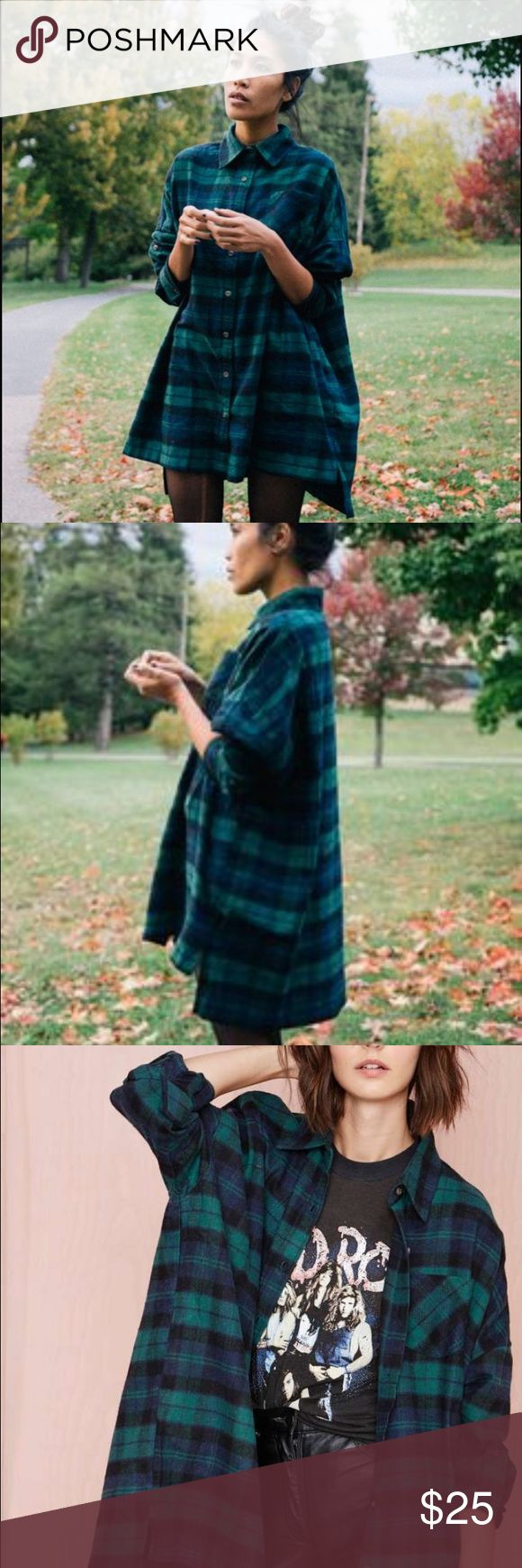 Nasty Gal Flannel Shirt Dress Gorgeous and versatile flannel from Nasty Gal. Only worn a handful of times and in perfect condition! Nasty Gal Tops Button Down Shirts