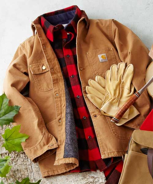Outdoor Essentials: Carhartt Jacket | The cold lasts for a few months, classics forever, which is why this indestructible duck-cloth coat is worth featuring in July. @Carhartt | Photo: Yunhee Kim