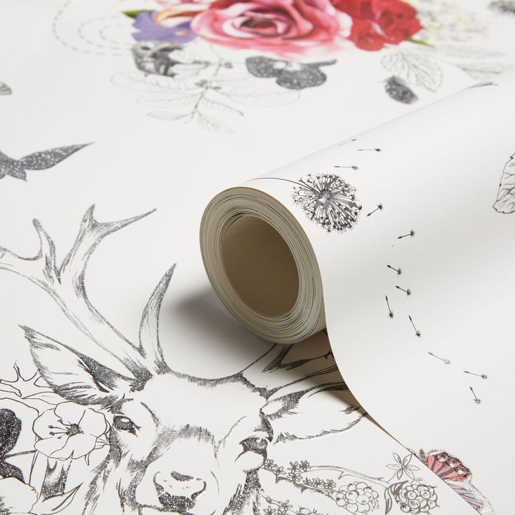 Spell Bound White & Multicolour Glitter Wallpaper | Departments | DIY at B&Q