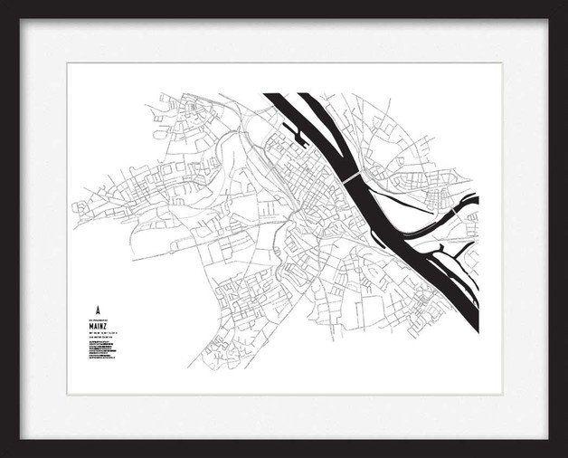 Buchstaben Kunstdruck - Mainz  Größe: DIN A2 // Kunstdruck auf 190g Fineart Papier  Der Druck kommt sich er verpackt in einer Versandrolle  Der Druck ist nicht gerahmt, das Bild dient nur als...