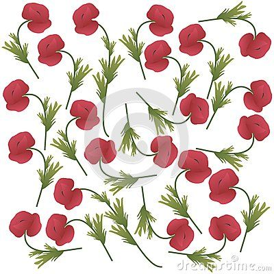 White background with #poppy #flowers