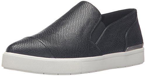 Vince Women's Philipa Fashion Sneaker, Black, 7.5 M US