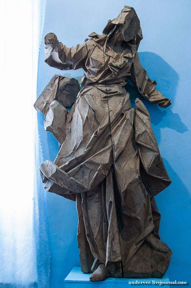 Іван Георгій Пінзель. Saint Anne. Ukrainian Baroque Wooden Devotional Sculpture