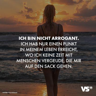 Visual Statements® Ich bin nicht arrogant. Ich ha…