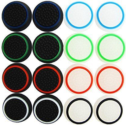 Pandaren® Thumb Grip thumbstick 16 units Noctilucent Sets pack for PS2, PS3, PS4, Xbox 360, Xbox One, Wii U tablet controller
