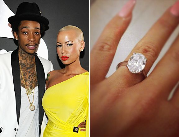 Check Out Amber Roses Engagement Ring From Wiz Khalifa