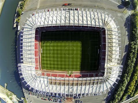Aerial shots of Middlesbrough FC's Riverside Stadium