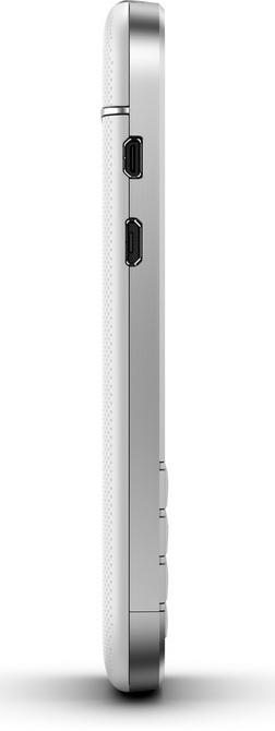 White Blackberry Q10 - side angle