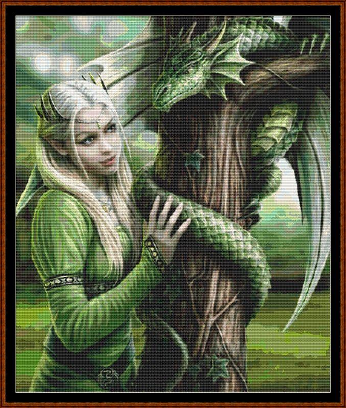 Hide & Seek Cross Stitch [gothic fantasy secret wyvern] - £1.04 : Witchykitt Designs - , Downloadable Stitching Patterns