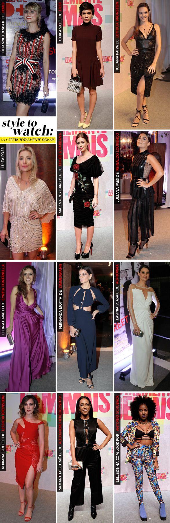Celebs brasileiras mais fashionistas: os looks da festa de 'Totalmente  Demais'