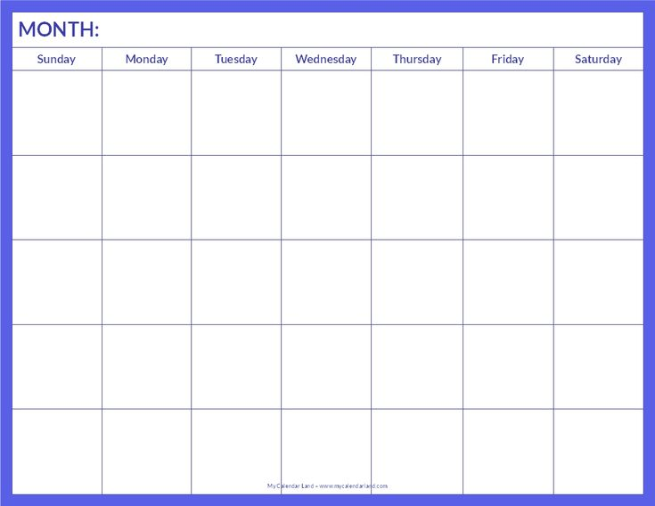 Best  Blank Calendar Pages Ideas On   Free Blank