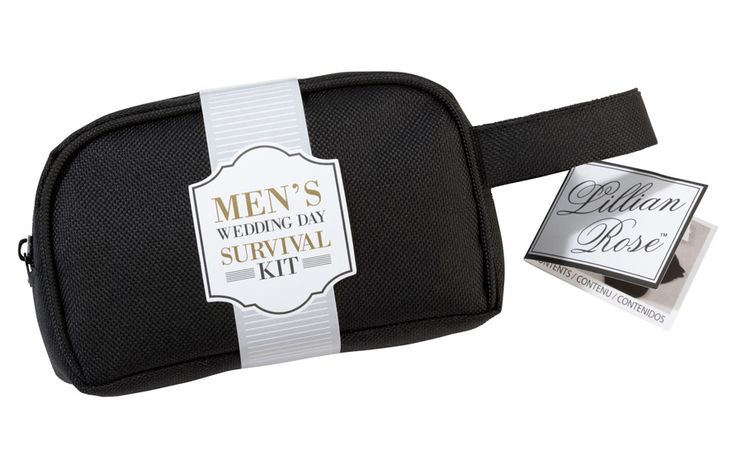 Be prepared for those little wedding day emergencies with this men's survival kit. Survival kits make great gifts for the groom, groomsmen and best man.