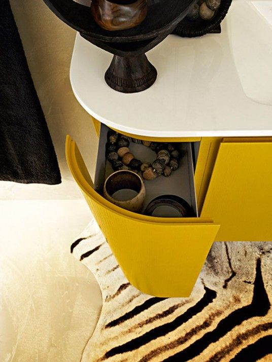 Yellow Bathroom Vanity Ideas
