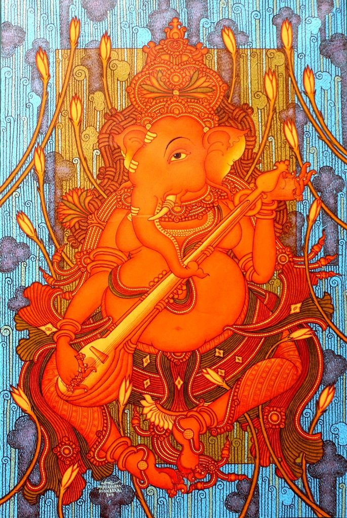 118 best images about ganesh and garuda on pinterest for Mural art of ganesha