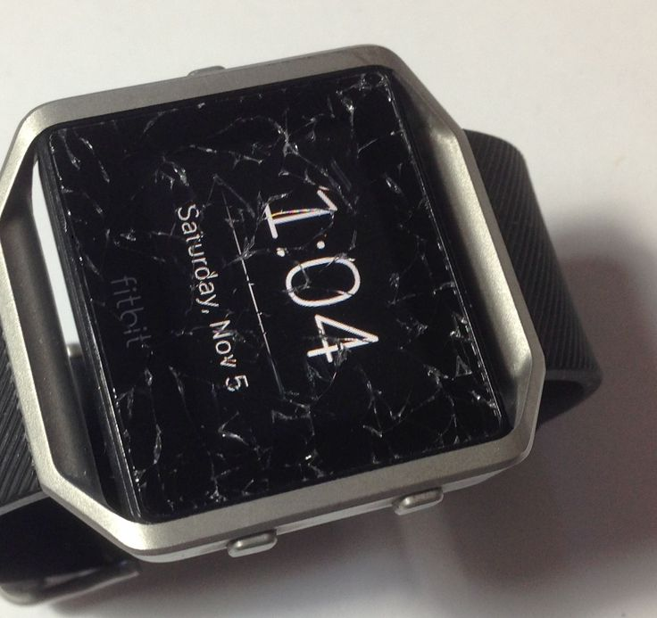 Fitbit Blaze (Large) Heavy Cracked On Glass Fully Woring W/ Free Return Shipping