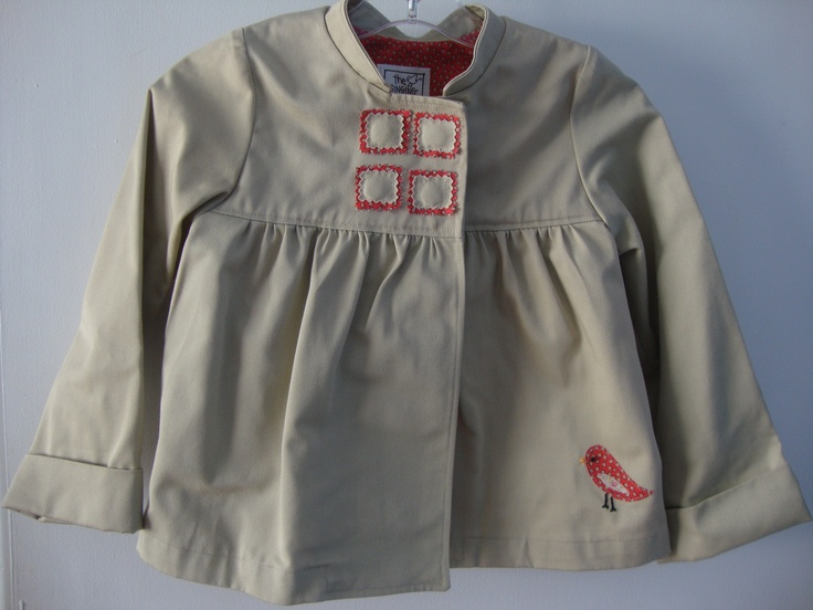 The Singing Sparrow girl's #jacket by Carmina Scott. About $60. #DEAF2012