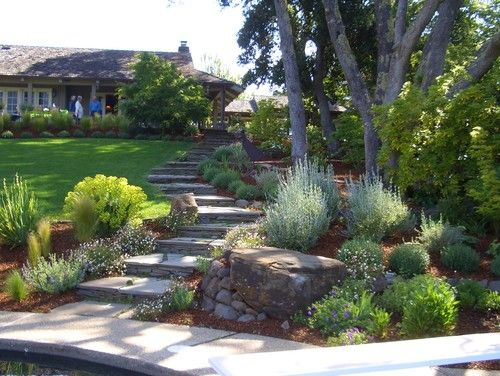 Sloped Front Yard Terraced Design, Pictures, Remodel, Decor and Ideas - page 24