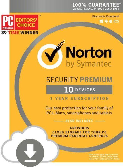 Norton Security Premium 10 Devices Download Code Amazon