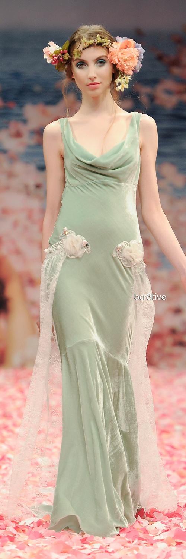 Claire Pettibone. Pretty bridesmaid dress for garden wedding.