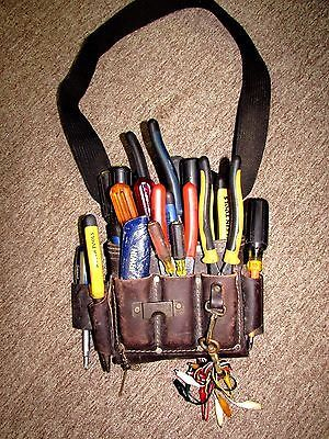 Awp Electrician's Durable Leather Tool Bag W/klein Tools. | What's ...
