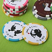 Personalized Vegas Themed Poker Chip Wedding Favor (Set of 50)