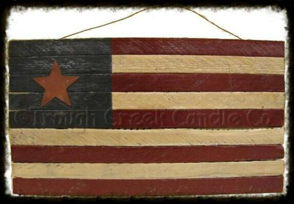 Americana Flag Ladder Especially For You Home Decor Flag Painting Primitive Decorating Wooden Flag