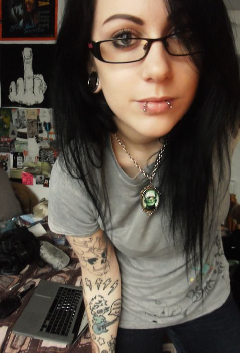 Wallpaper Emo Girl Style Plugs Snake Bites Tattoos Makeup Hair Amp Beauty That I