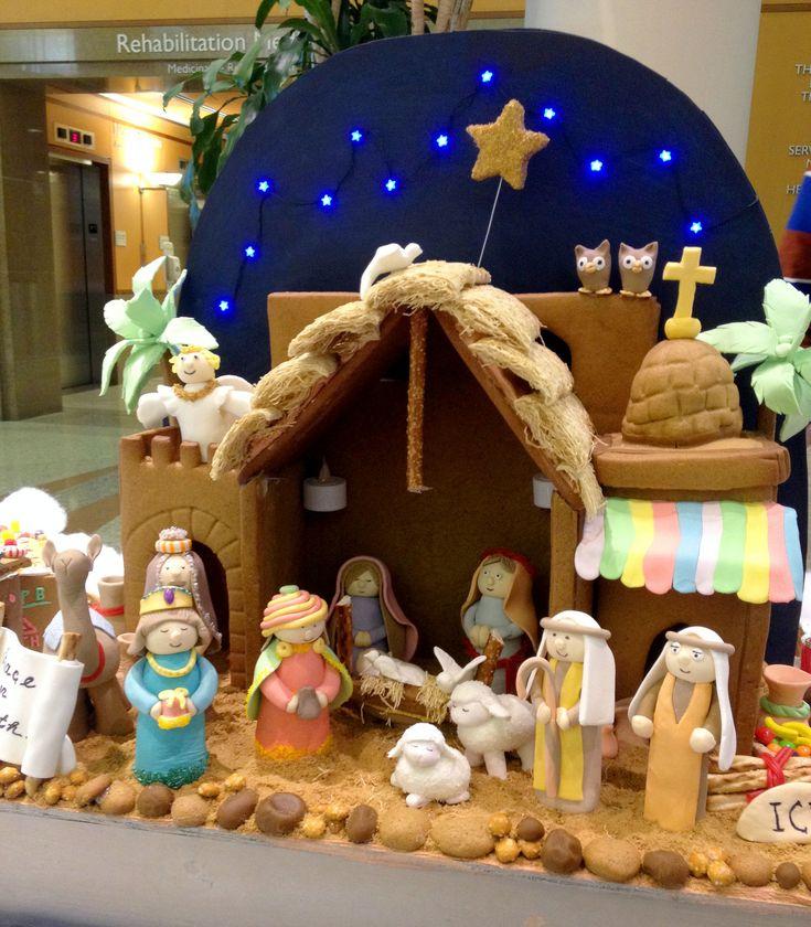 gingerbread house nativity