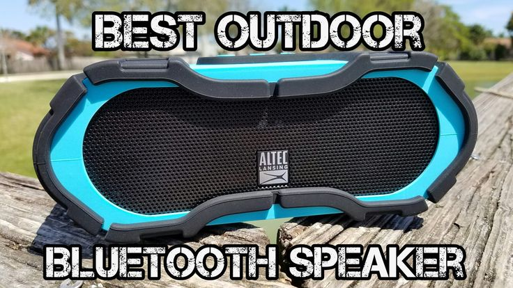 Altec Lansing Boomjacket - Best Outdoor Bluetooth Speaker - NFC - Power ...