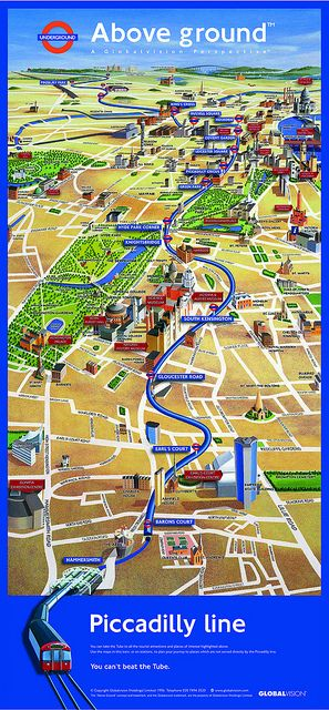 Lulu Pinney on Global Vision's friendly tube map for the Piccadilly line by Eye magazine, via Flickr