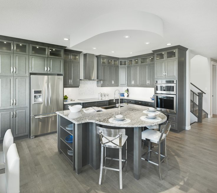 The Birchwood Kitchen in Legacy – Trico Homes – Check out the new homes built by www.tricohomes.com #homebuilder #tricohomes #calgary