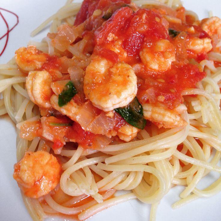 Pasta + shrimp = love