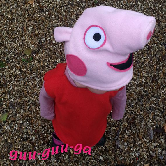 Peppa Pig costume for baby toddler by GuuGuuGa on Etsy
