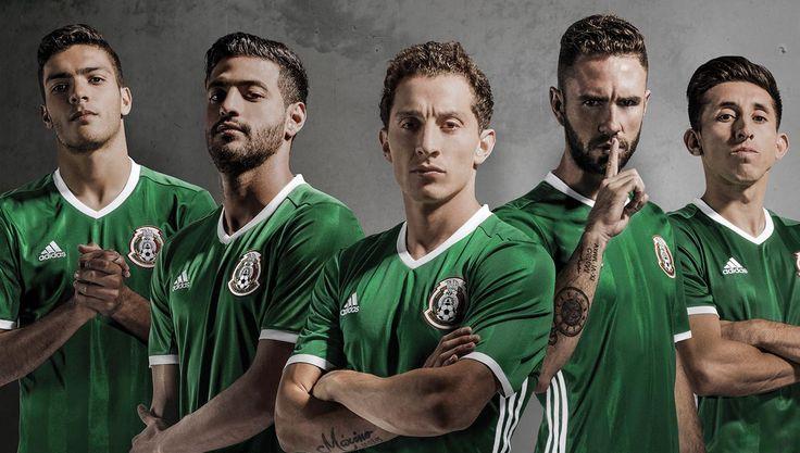 México 2016 Home Kit by Adidas.  México unbeaten streak reached 22 games.  The 3rd longest unbeaten streak in the history of national teams. Brasil (35) Spain (35).