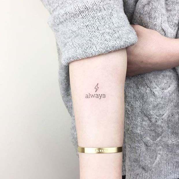 Harry Potter Small Tattoo Idea for Women