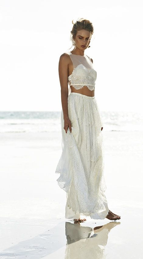 2 Piece Wedding Gown Very Simple But So Much Detail In The Lace I Believe This Type Of Only Works For Inspiration Weddi