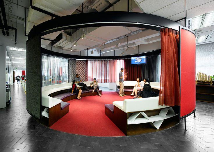 Creative office design by M Moser Associates https://www.pinterest.com/AnkAdesign/office-buldings-design/