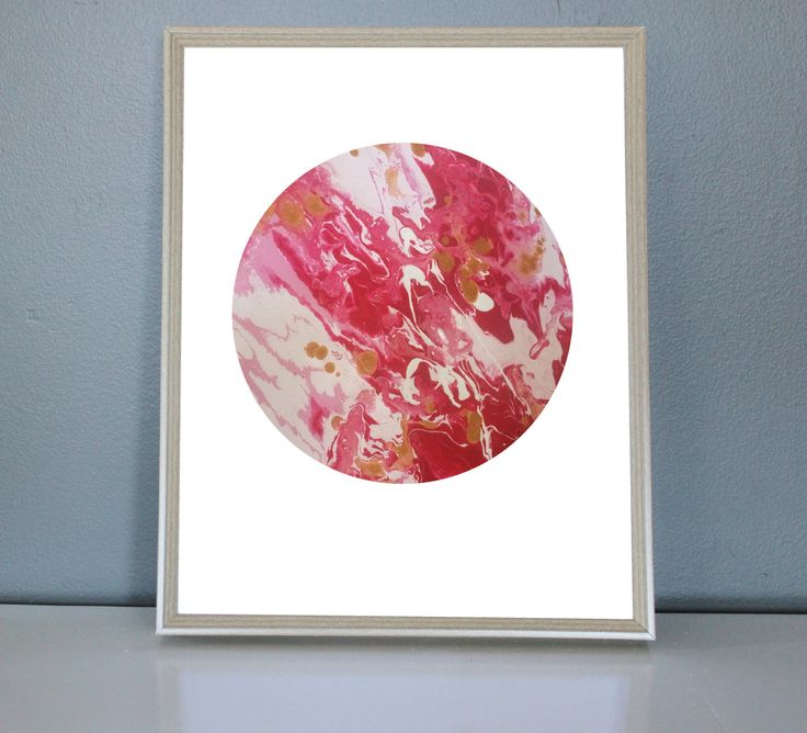 VENUS - Pink, Gold, Red, White Moon/Planet Art Print 8X10, 11X14 by PrettyPaperPlaceShop on Etsy