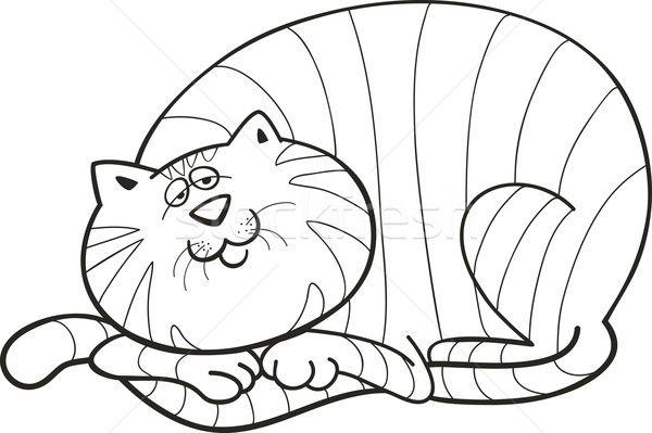 Сток-фото: жира · кошки · книжка-раскраска · иллюстрация ...
