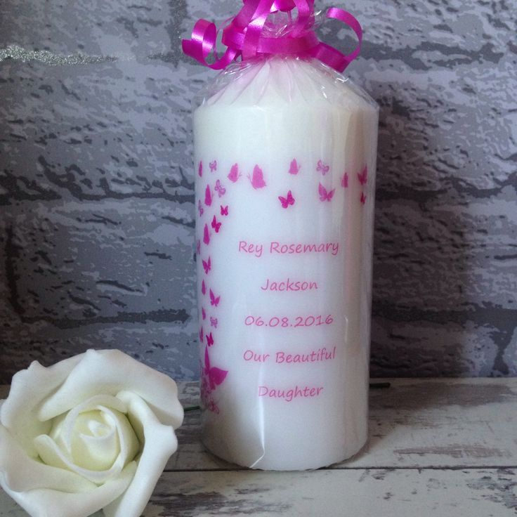 Beautiful baby memorial candle