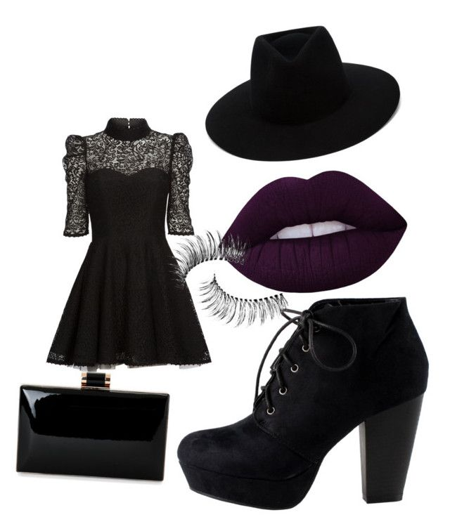 """funeral"" by oliviasjstad on Polyvore featuring Mairi Mcdonald, rag & bone, Lime Crime and Trish McEvoy"