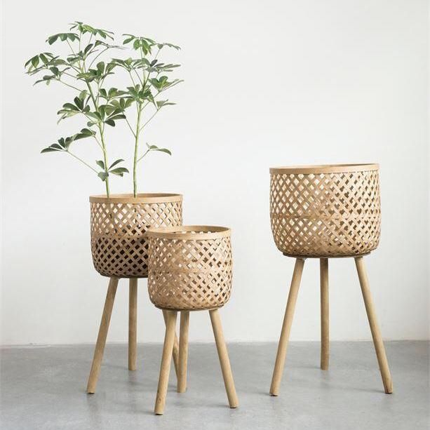 Bamboo Baskets On Legs Bamboo Flooring Floor Baskets Bamboo Furniture
